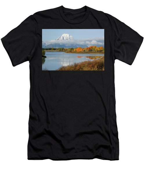Men's T-Shirt (Athletic Fit) featuring the photograph Oxbow Bend  by Wesley Aston
