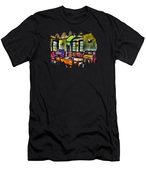 Oysterville Church Interior Men's T-Shirt (Athletic Fit)