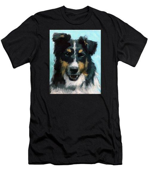 Ozzie Animal Dog Portrait Men's T-Shirt (Athletic Fit)