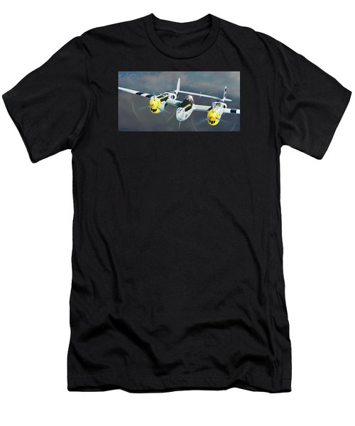 P-38 On The Prowl Men's T-Shirt (Athletic Fit)