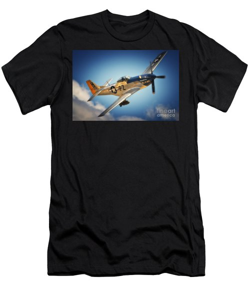 P-51 Mustang Hell Er Bust Men's T-Shirt (Athletic Fit)