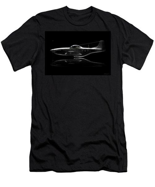 P-51 Mustang Profile Men's T-Shirt (Slim Fit) by David Collins