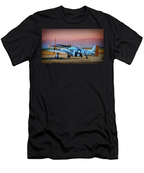 P-51d Mustang 'dakota Kid II. The Long Island Kid' And Casey Odegaard Men's T-Shirt (Athletic Fit)