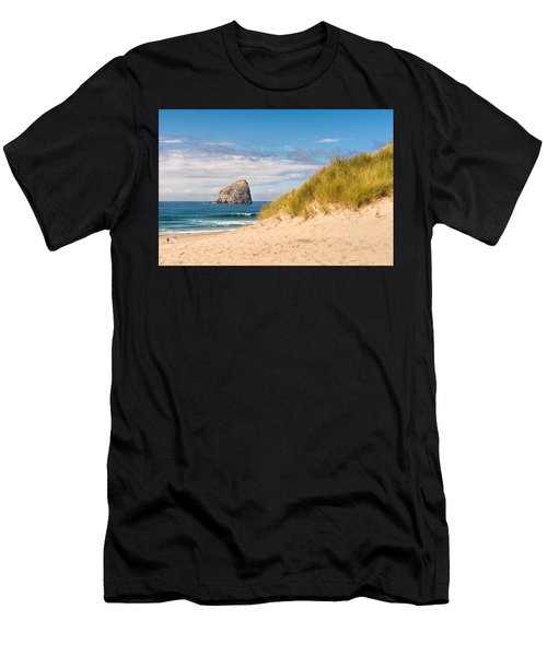 Men's T-Shirt (Athletic Fit) featuring the photograph Pacific Beach Haystack by Michael Hope