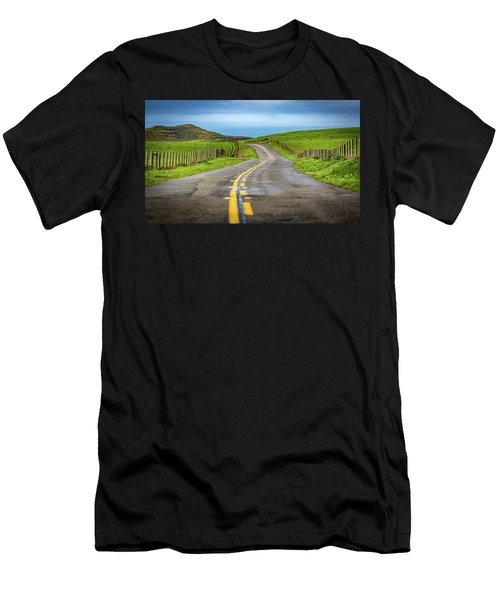 Pacific Coast Road To Tomales Bay Men's T-Shirt (Athletic Fit)