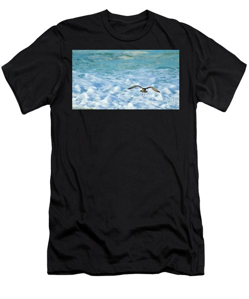 Pacific Golden Plover Flying Men's T-Shirt (Athletic Fit)