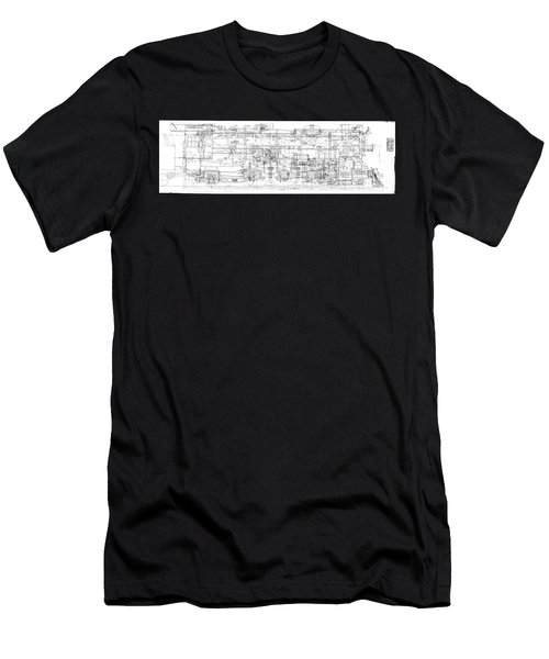 Pacific Locomotive Diagram Men's T-Shirt (Athletic Fit)