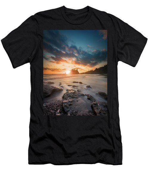 Men's T-Shirt (Athletic Fit) featuring the photograph Pacific Sunset At Olympic National Park by William Lee