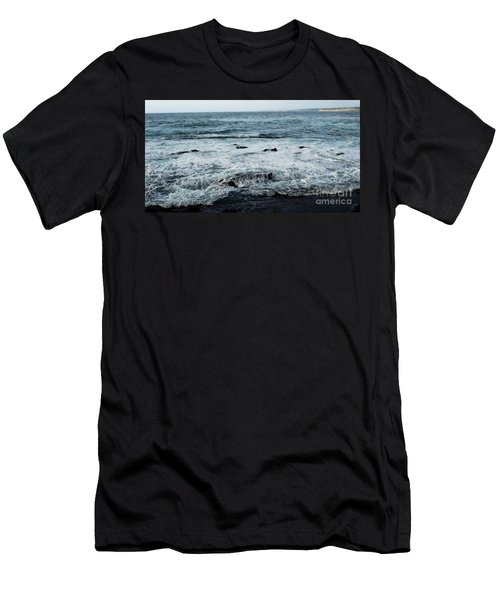 Men's T-Shirt (Athletic Fit) featuring the photograph Pacific View 1 by Linda Shafer