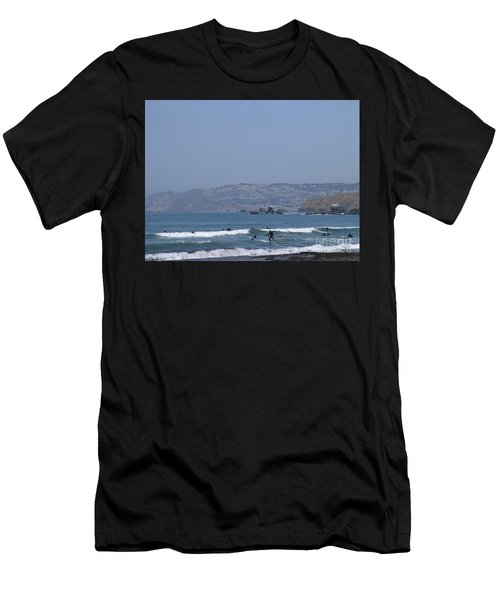 Men's T-Shirt (Athletic Fit) featuring the photograph Pacifica Surfing by Cynthia Marcopulos