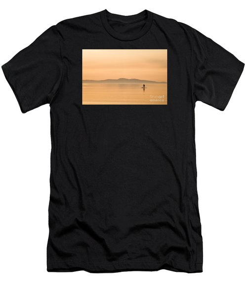 Paddle Boarding At Sunrise Men's T-Shirt (Athletic Fit)