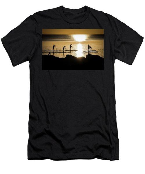 Paddle Gold Men's T-Shirt (Athletic Fit)