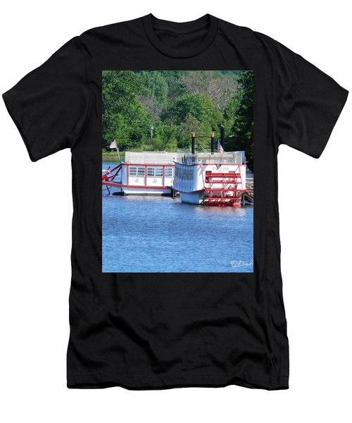 Paddleboat On The River Men's T-Shirt (Athletic Fit)