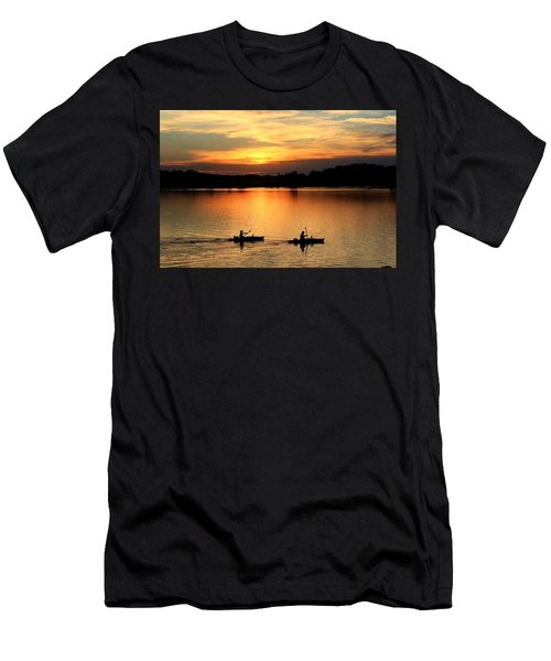 Paddling Back To Camp Men's T-Shirt (Athletic Fit)