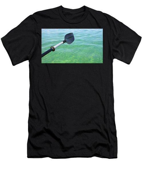 Paddling Grand Traverse Bay Men's T-Shirt (Athletic Fit)