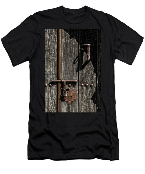 Padlock Men's T-Shirt (Slim Fit) by Edgar Laureano