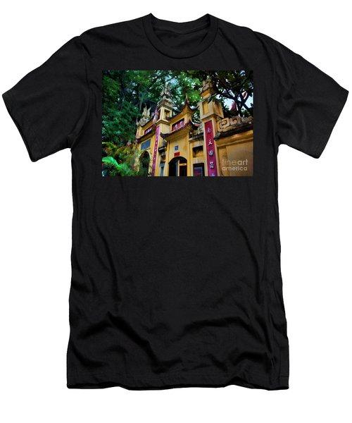 Pagoda Exterior Hanoi Paint  Men's T-Shirt (Athletic Fit)