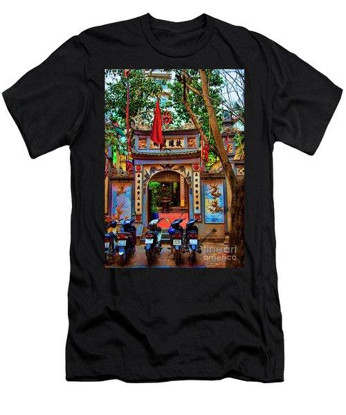 Pagoda Hanoi Paint  Men's T-Shirt (Athletic Fit)