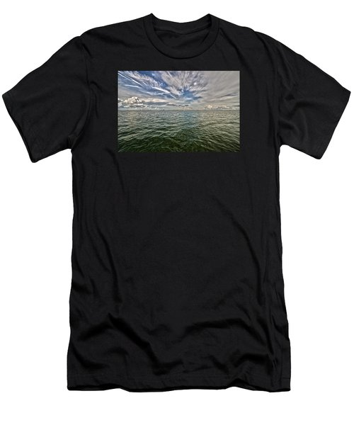 Paint Brush Sky - Ft Myers Beach Men's T-Shirt (Slim Fit) by Christopher L Thomley