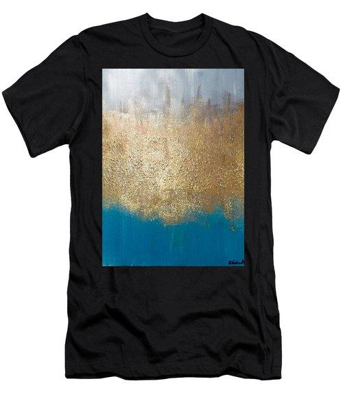 Paint The Sky Gold Men's T-Shirt (Athletic Fit)