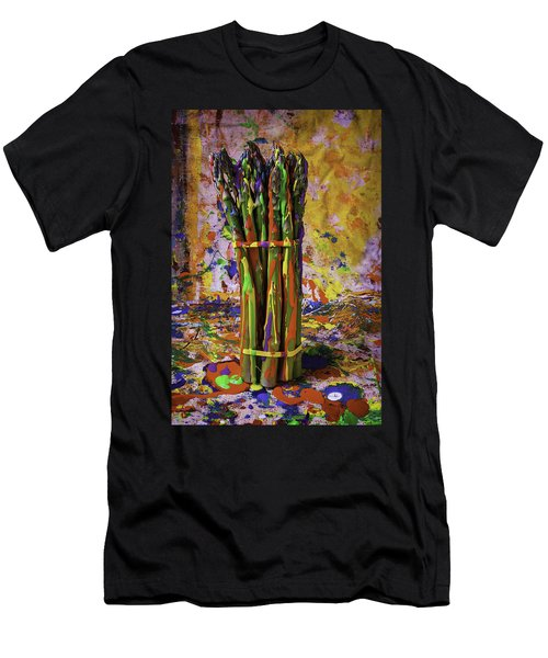 Painted Asparagus Men's T-Shirt (Slim Fit) by Garry Gay