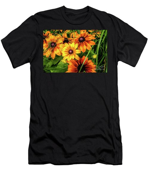 Painted Blossoms Men's T-Shirt (Athletic Fit)