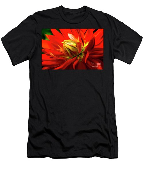 Painted Dahlia In Full Bloom Men's T-Shirt (Athletic Fit)