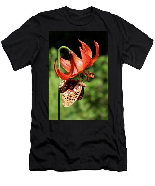Painted Lady On Lily Men's T-Shirt (Athletic Fit)