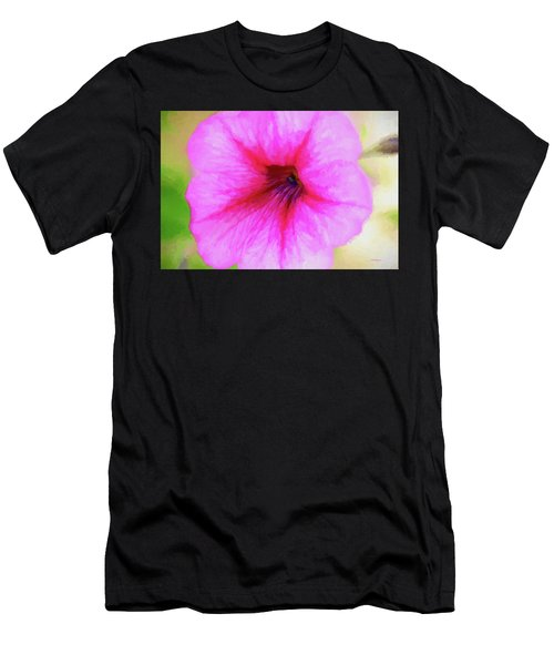 Men's T-Shirt (Athletic Fit) featuring the photograph Painted Petunia 344 by Ericamaxine Price