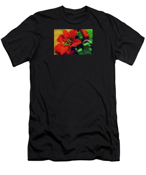 Men's T-Shirt (Slim Fit) featuring the photograph Painted Poinsettia by Sandy Moulder