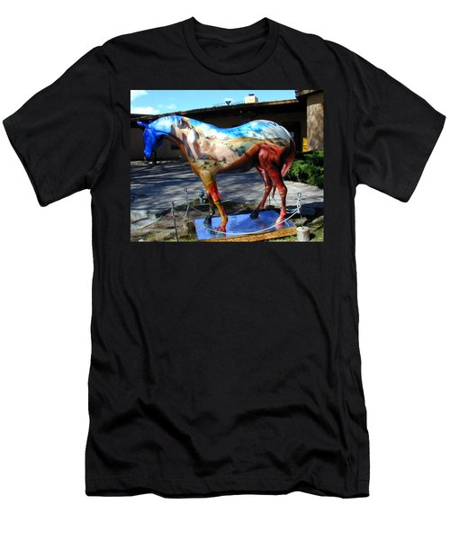 Men's T-Shirt (Athletic Fit) featuring the photograph Painted Pony At Ghost Ranch by Joseph R Luciano