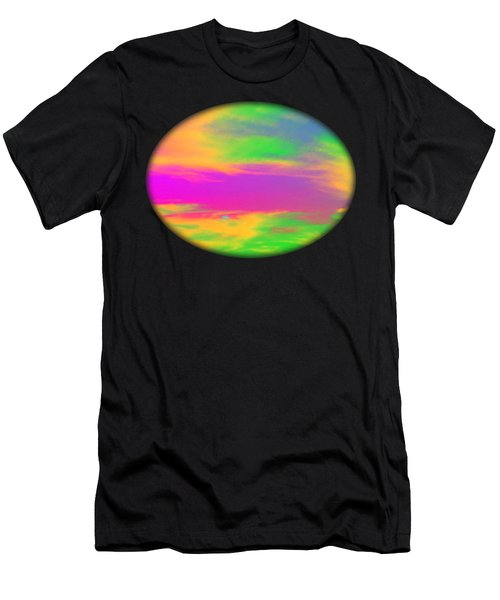 Painted Sky - Abstract Men's T-Shirt (Athletic Fit)