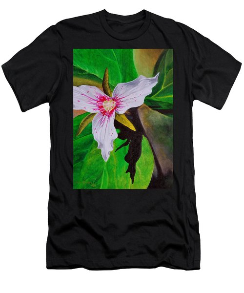 Painted Trillium Men's T-Shirt (Athletic Fit)