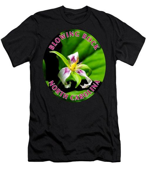 Painted Trillium T-shirt Men's T-Shirt (Athletic Fit)