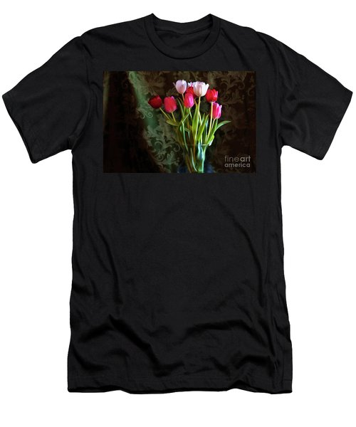Painted Tulips Men's T-Shirt (Athletic Fit)