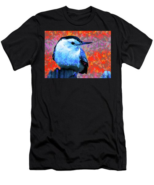 Painted White Breasted Nuthatch Men's T-Shirt (Athletic Fit)