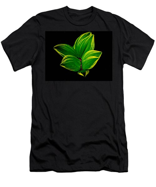 Painter Leaf Pattern Men's T-Shirt (Athletic Fit)