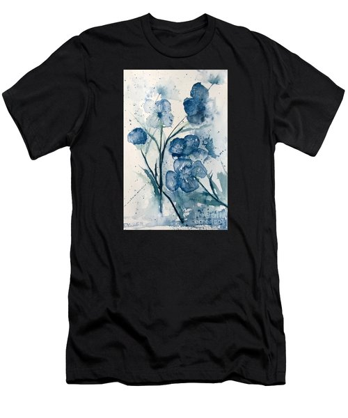 Painterly  Blues Men's T-Shirt (Athletic Fit)