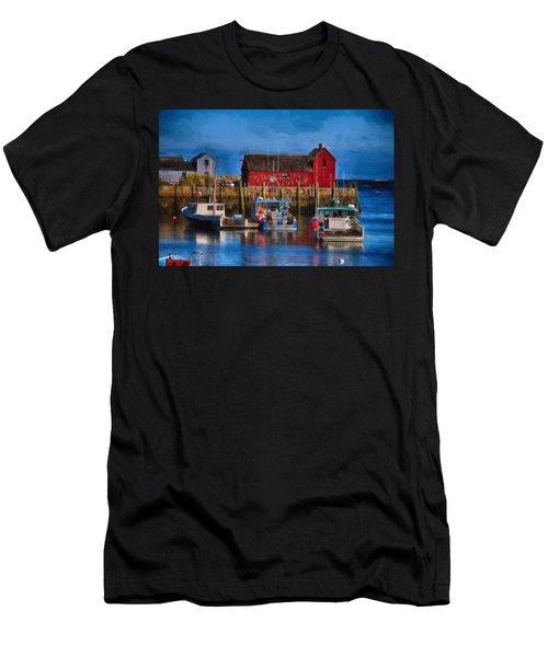 Painterly Motif #1 Rockport Men's T-Shirt (Athletic Fit)