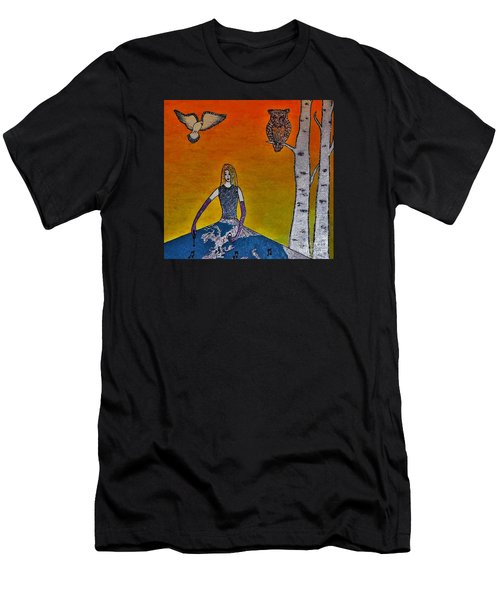 Painting On A Sunny Day Men's T-Shirt (Athletic Fit)