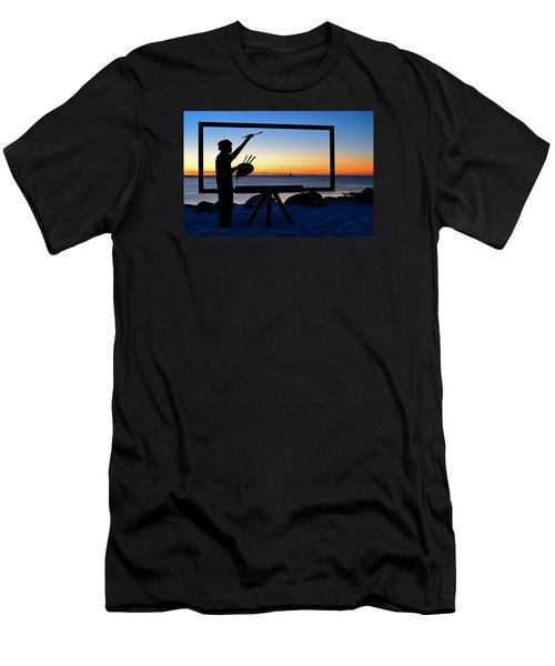 Painting The Perfect Sunrise Men's T-Shirt (Slim Fit) by James Kirkikis