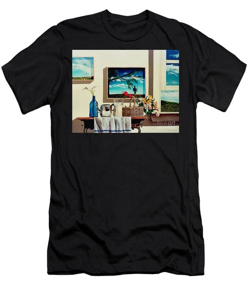 Paintings Within A Painting Men's T-Shirt (Athletic Fit)