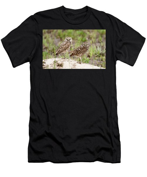 Pair Of Burrowing Owls Men's T-Shirt (Athletic Fit)