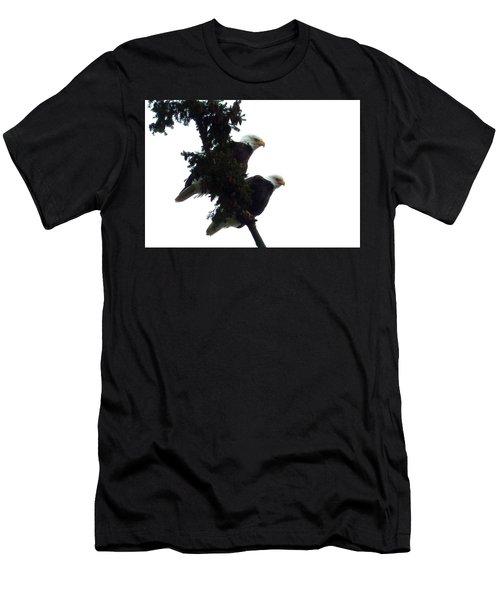 Pair Of Eagles In A Tree Men's T-Shirt (Slim Fit) by Karen Molenaar Terrell