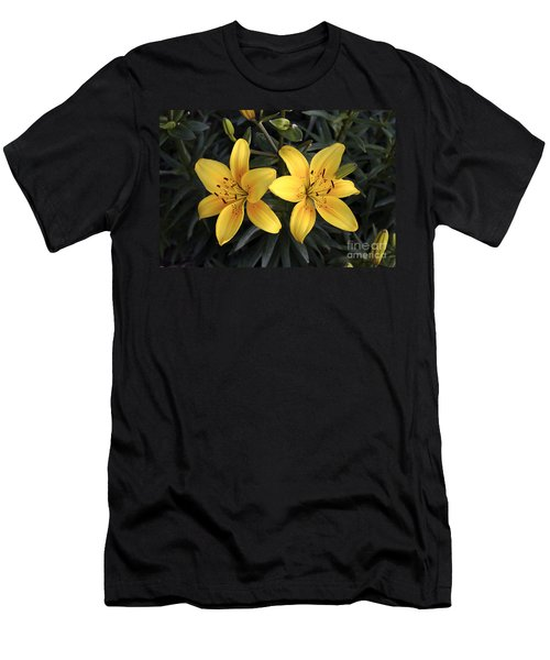 Pair Of Yellow Lilies Men's T-Shirt (Athletic Fit)
