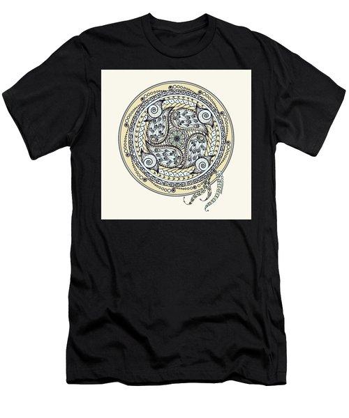 Paisley Balance Mandala Men's T-Shirt (Athletic Fit)