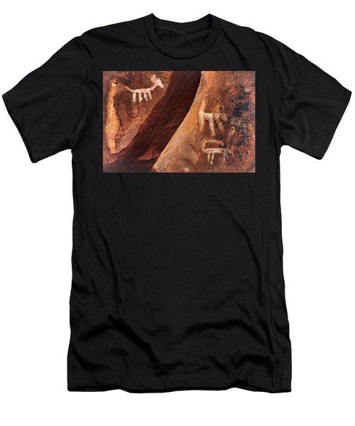Palatki Pictographs9 Pnt Men's T-Shirt (Athletic Fit)