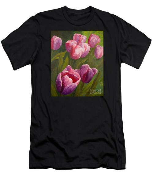 Palette Tulips Men's T-Shirt (Athletic Fit)