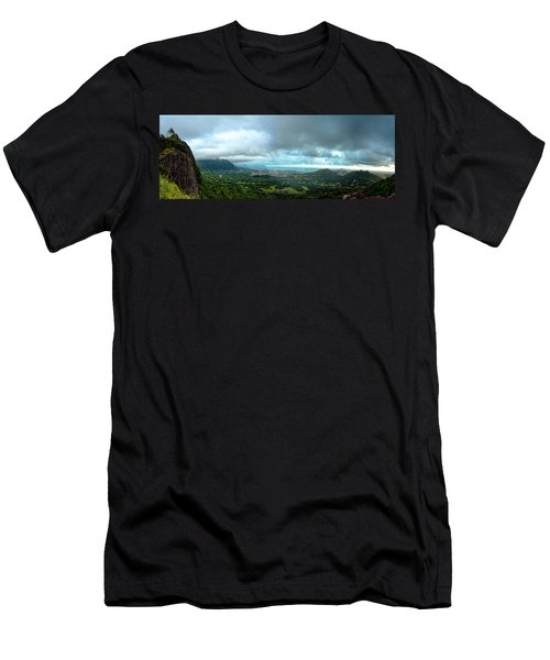 Men's T-Shirt (Slim Fit) featuring the photograph Pali Lookout Dawn by Dan McManus