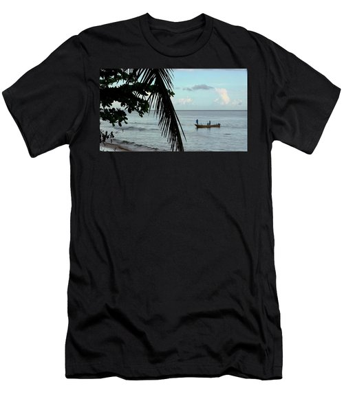 Palm And Tree Men's T-Shirt (Athletic Fit)